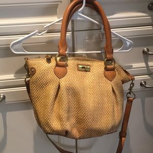 J. Crew shoulder bag. Woven straw material